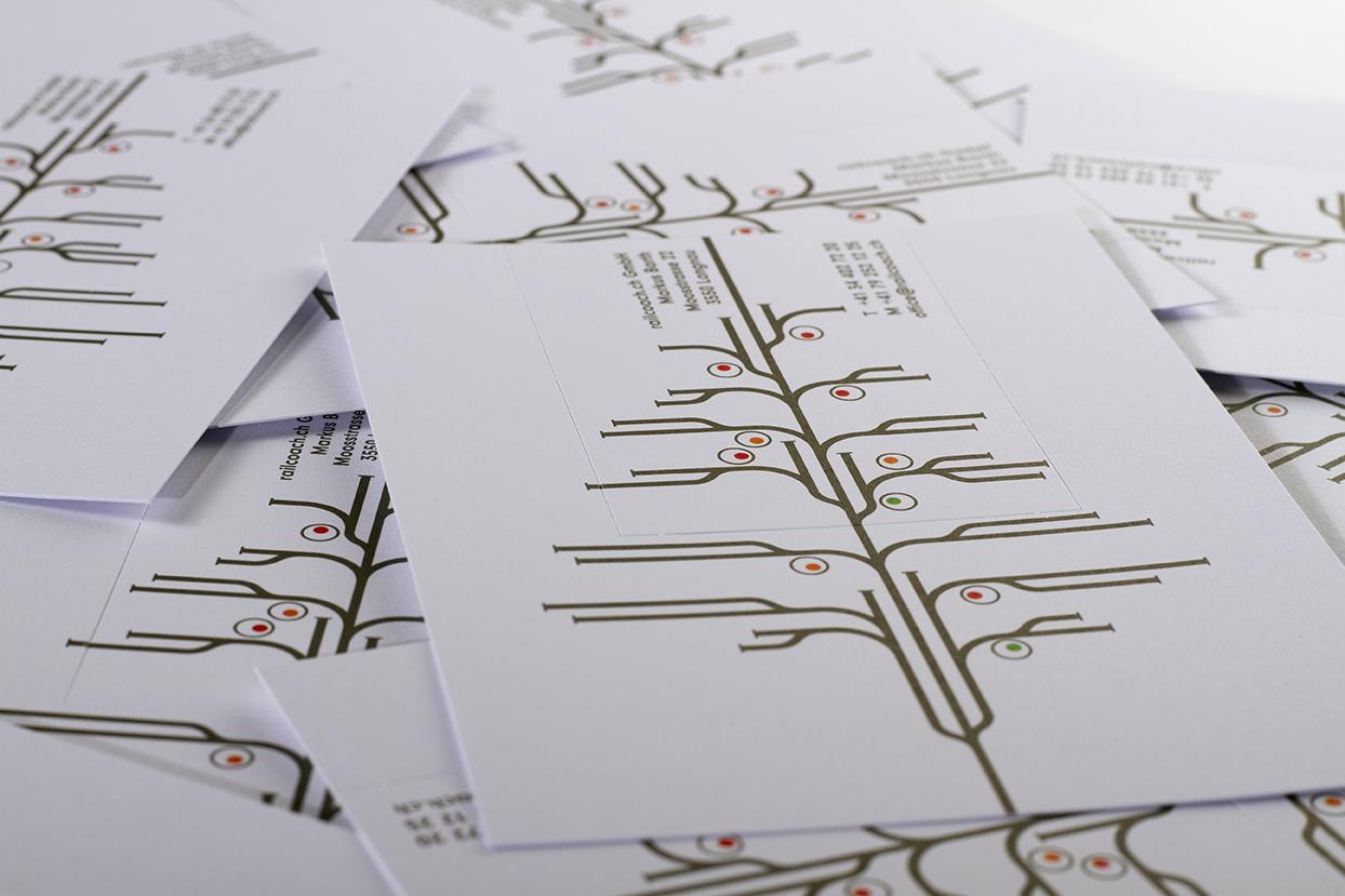 Tanner Druck AG, ausbrechbare Visitenkarte aus Weihnachtskarte Railcoach