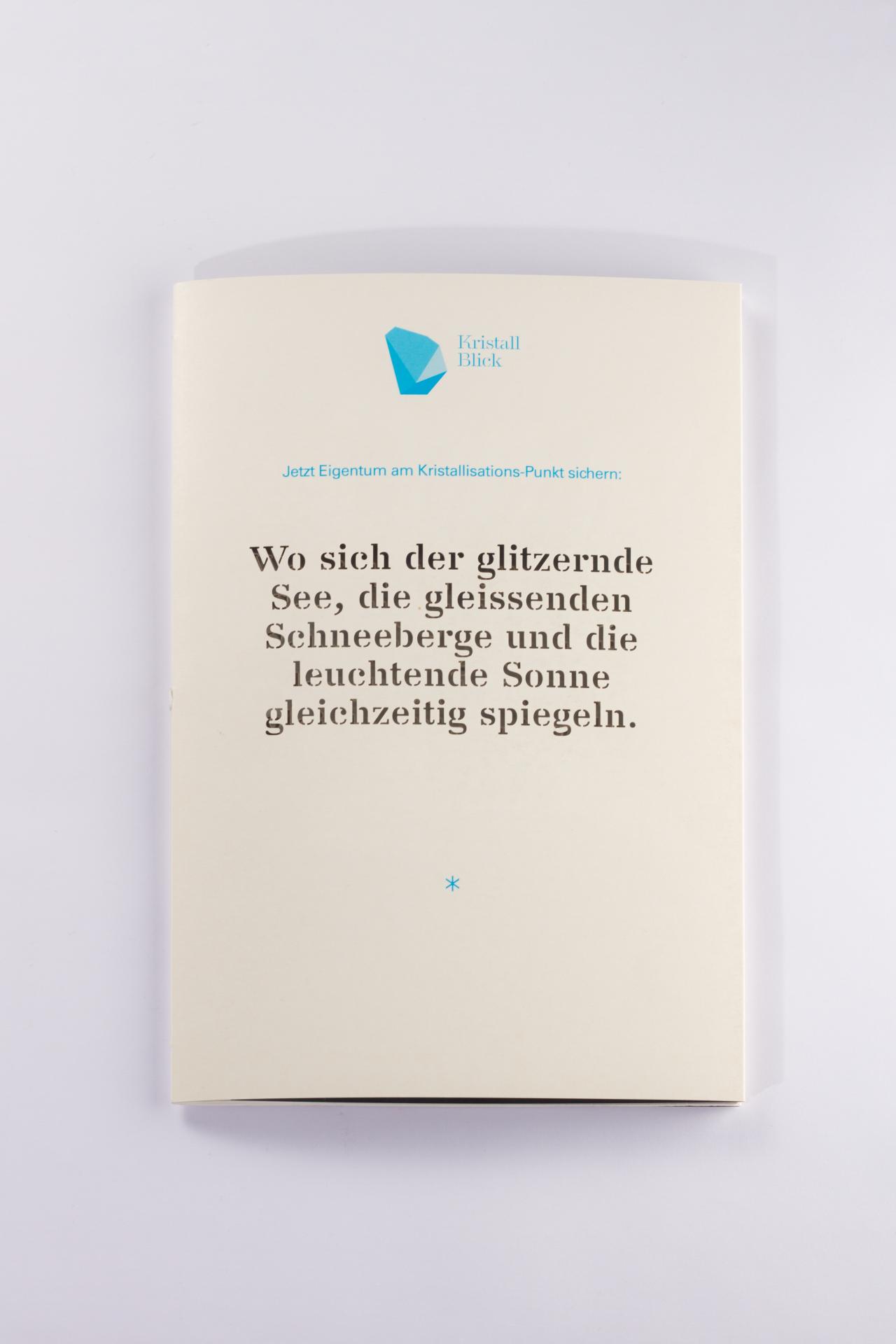 Tanner Druck AG, Stanzung Flyer Kristall Blick
