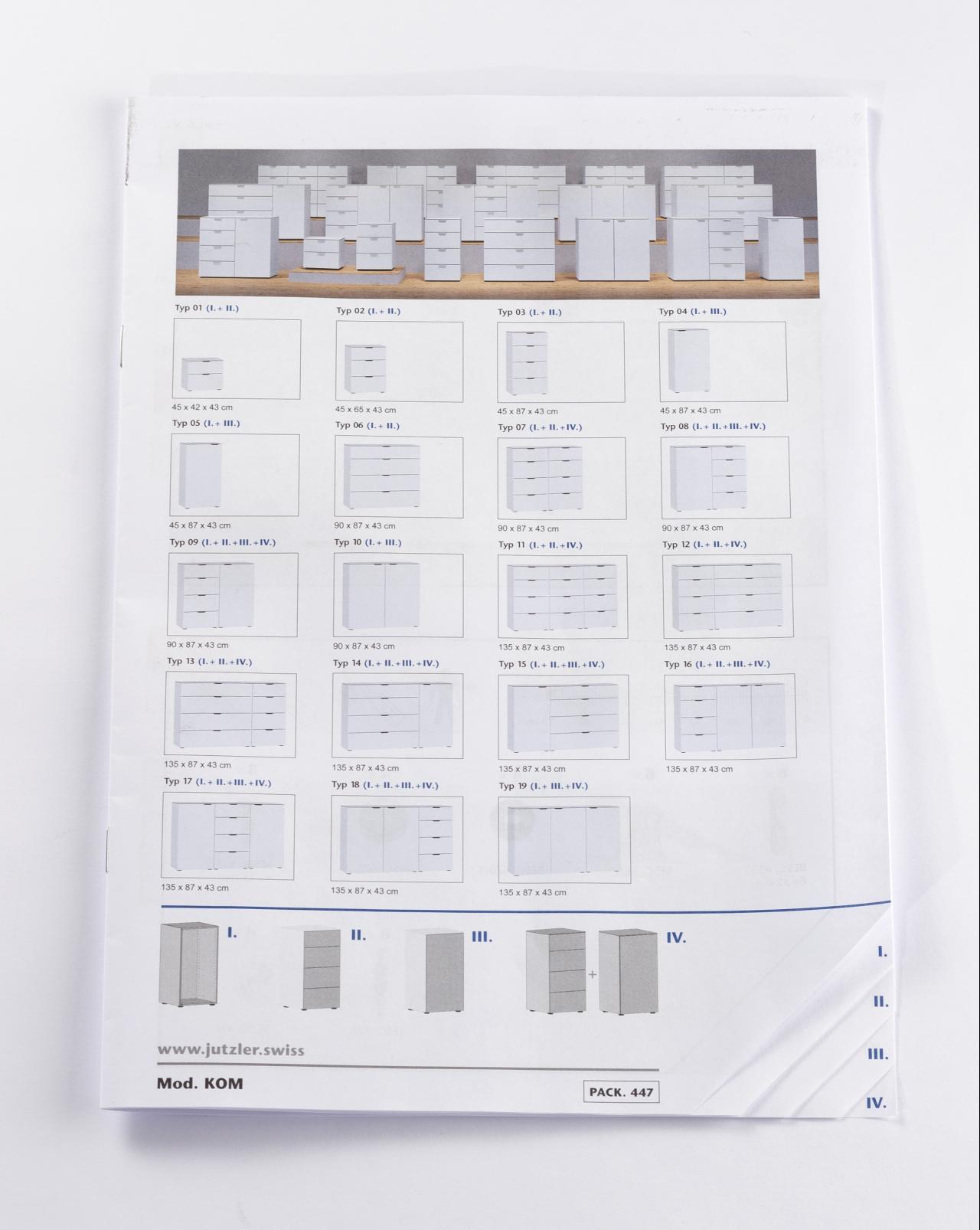 Tanner Druck AG, Montageanleitung mit Register Jutzler
