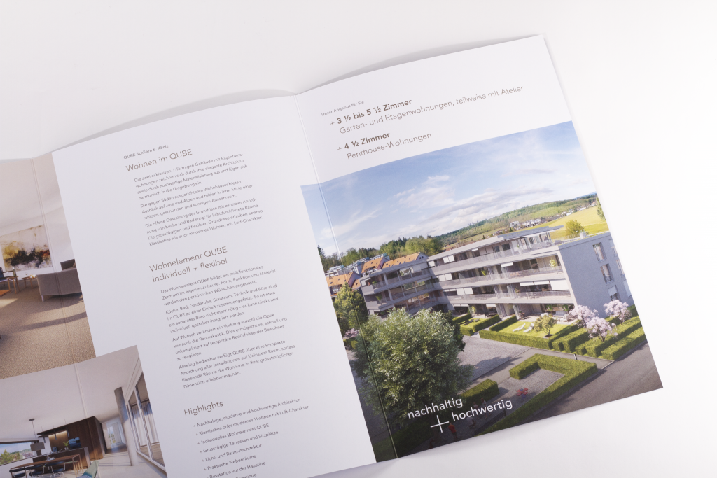 Tanner Druck AG, Prospekte r+st Architekten