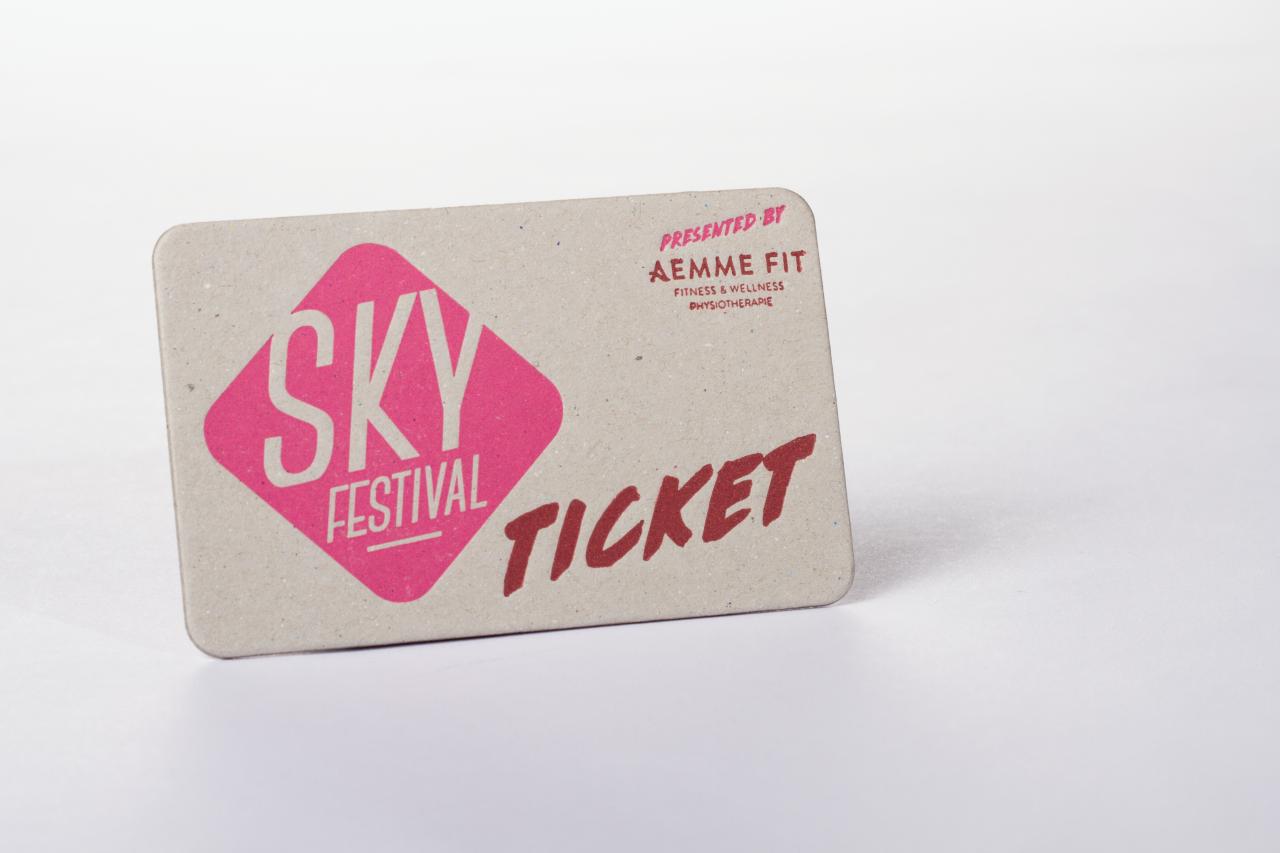 Tanner Druck AG, Ticket Letterpress Sky Festival