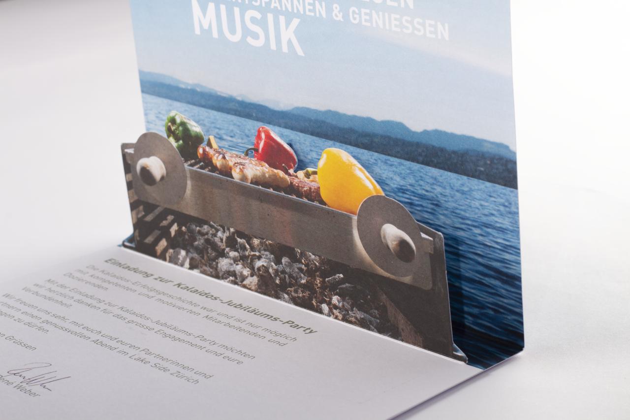 Tanner Druck AG, Einladung Pop-up Kalaidos