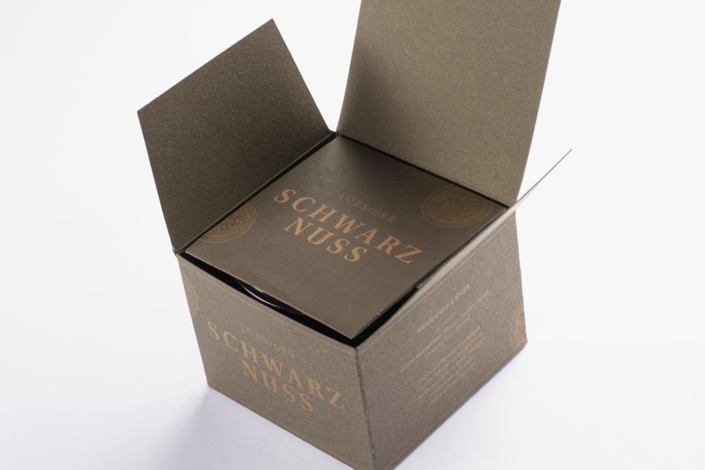 Tanner Druck AG, Verpackung Schwarznuss