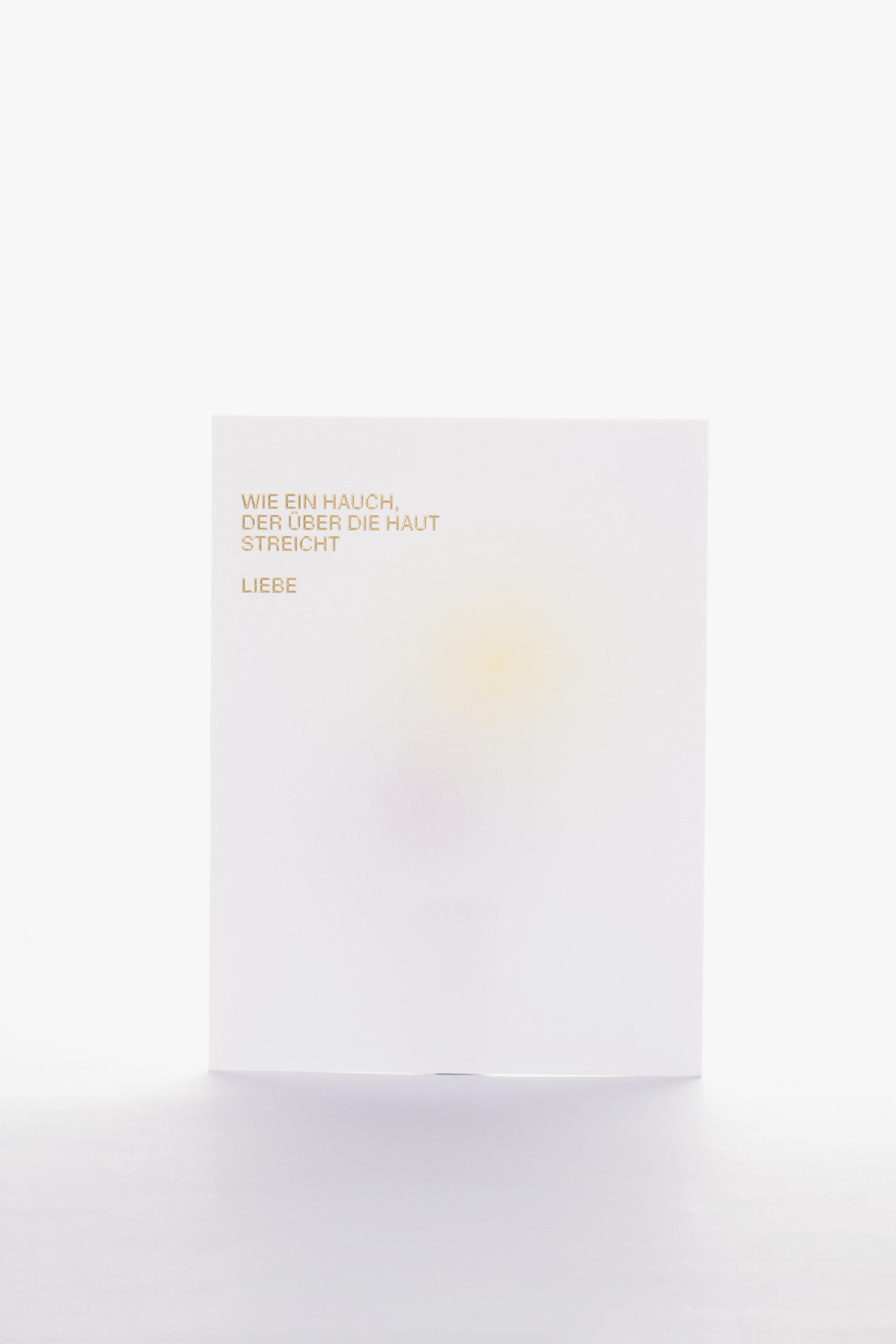 Tanner Druck AG, Weihnachtskarte mit Prägung ruethy Goldschmiede