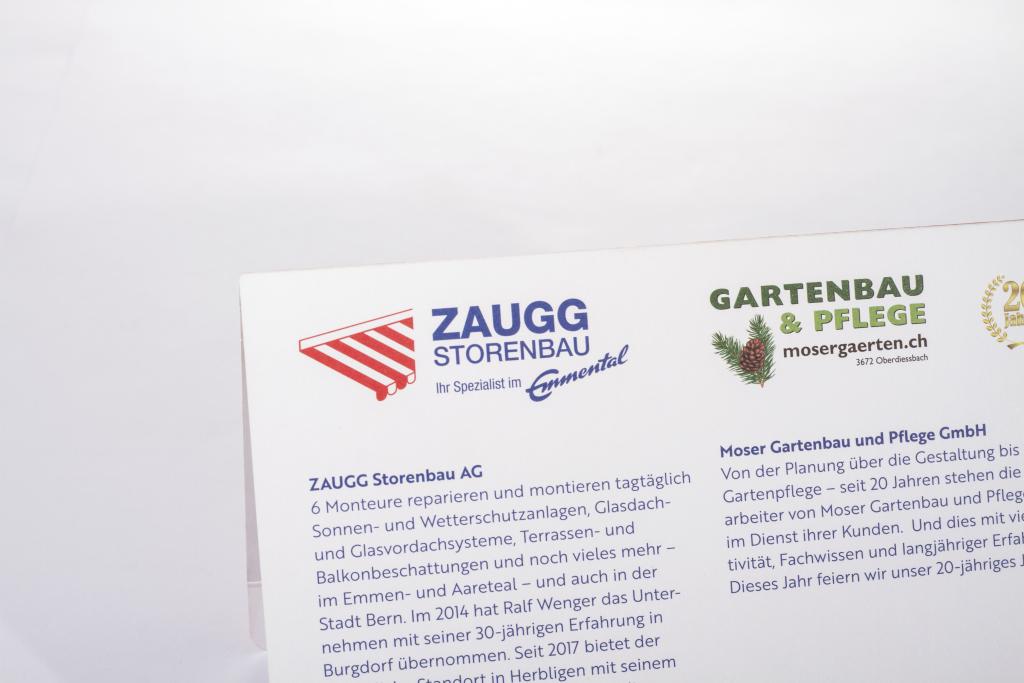 Tanner Druck AG, Karte Zaugg Storenbau