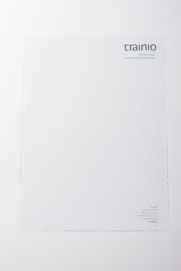Tanner Druck AG, Briefpapier mit Pattern trainiq