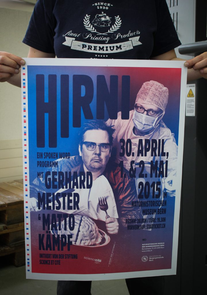 Tanner Druck AG, Plakat Hirni Naturhistorisches Museum Bern