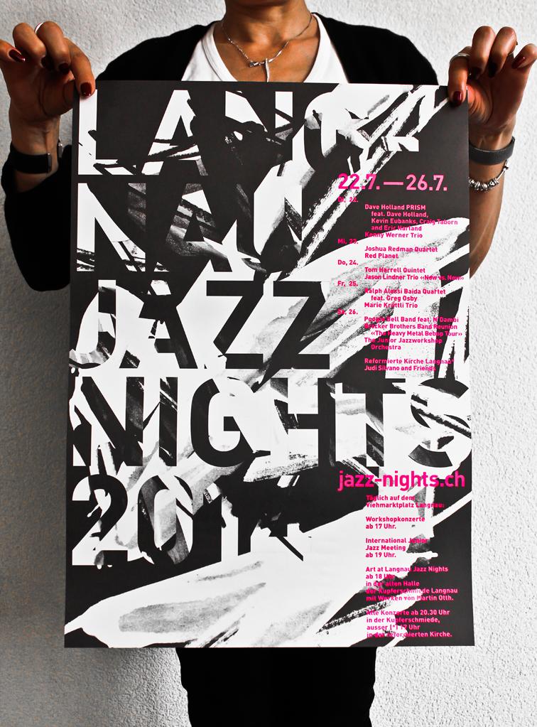 Tanner Druck AG, Plakat Jazz Nights Langnau