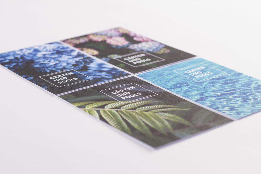 Tanner Druck AG, Visitenkarten Gärten und Pools
