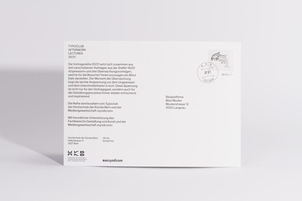Versand Postkarte, HKB