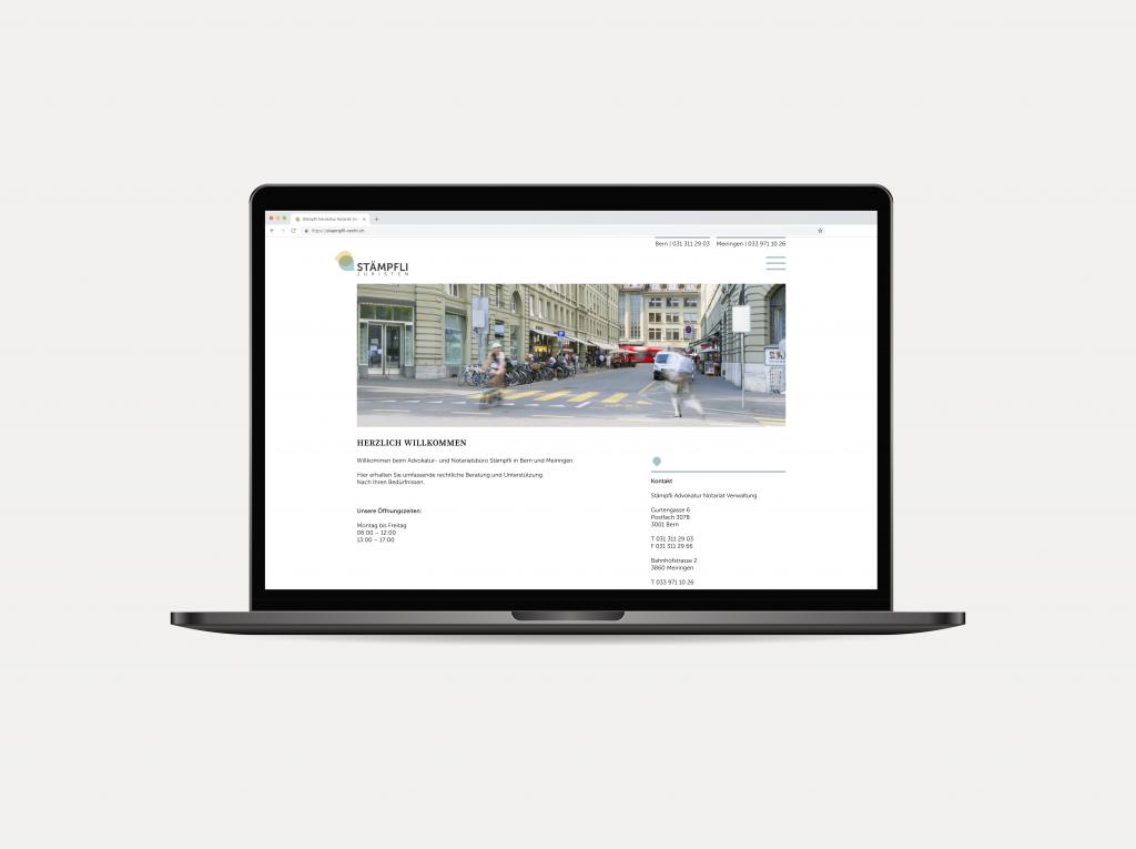Tanner Druck AG, Stämpfli Juristen Website