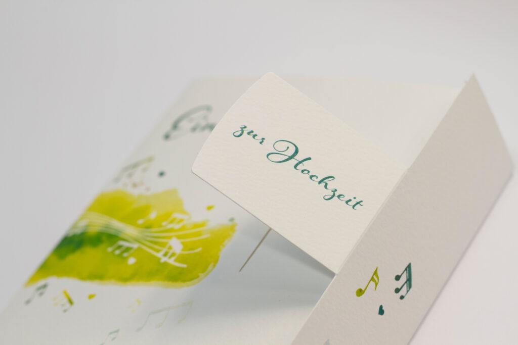 Tanner Druck AG, Hochzeitskarte