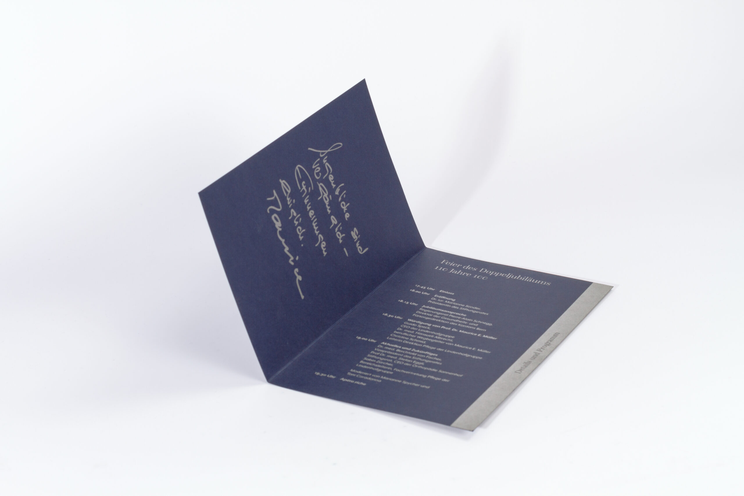 Programmkarte Stiftung Lindenhof